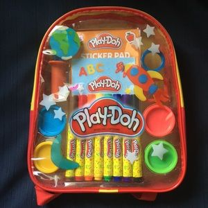 Play doh travel book sack